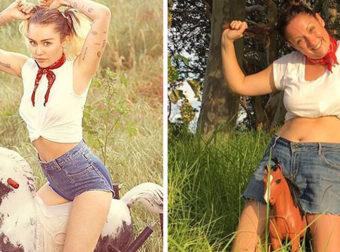 This Woman Hilariously Recreates Celebrities Instagram Photos
